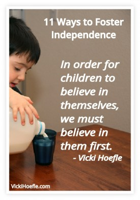Foster independence