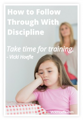 how to follow through with discipline